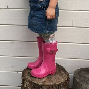London Fog Pink Toddler Rain Boots
